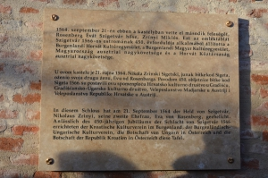 Spomenploća Nikoli IV. Zrinskiju u Eberavi na tri jeziki