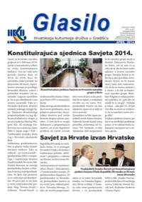 Cover Glasilo 2014/01