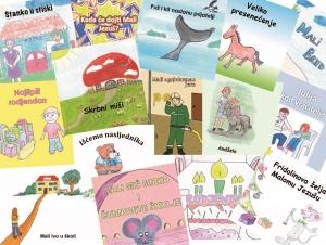 Kolaža mini-knjigov HKD-a